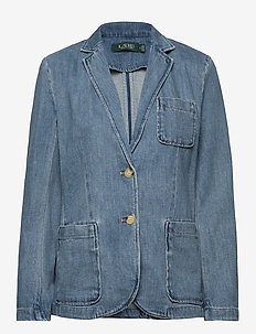 Cotton Denim Blazer - blazers - light authentic w