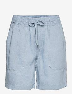 Linen Drawcord Short - casual shorts - dust blue