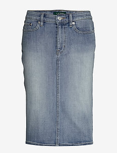 Denim Skirt - jeanskjolar - indigo haze wash