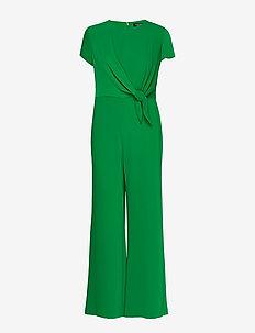 Crepe Wide-Leg Jumpsuit - haalarit - hedge green