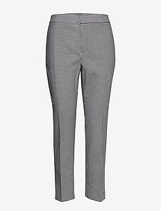 Houndstooth Stretch Pant - slim fit housut - black/silk white