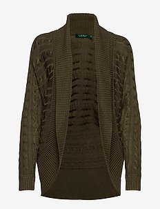 Cable-Knit Cardigan - DARK SAGE