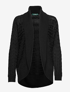 Cable-Knit Cardigan - POLO BLACK