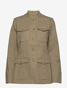 Stretch-Cotton Canvas Jacket - DRY OLIVE