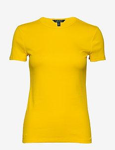Monogram Cotton-Blend Tee - basic t-shirts - dandelion fields