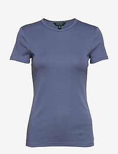 Monogram Cotton-Blend Tee - basic t-shirts - stormy sky