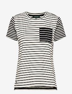 Striped Cotton-Blend Tee - POLO BLACK MULTI