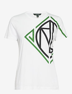 Graphic Logo Tee - WHITE/HEDGE GREEN