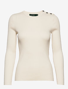 Ribbed Cotton-Blend Sweater - gensere - mascarpone cream
