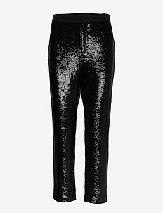 Sequined Cropped Pant - POLO BLACK