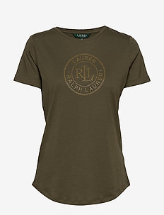 Logo Cotton Tee - logo t-shirts - dark sage