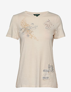 Patch Cotton Tee - MASCARPONE CREAM