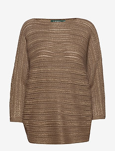 Dolman-Sleeve Sweater - jumpers - gold