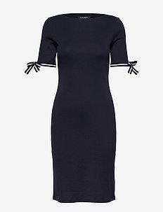 Casual Cotton Dress - LAUREN NAVY