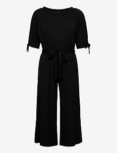 Off-the-Shoulder Jumpsuit - jumpsuits - polo black