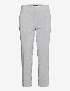 Seersucker Straight Pant - rette bukser - navy/white