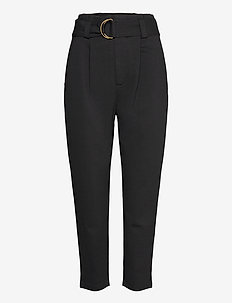 Belted Ponte Pant - slim fit bukser - polo black
