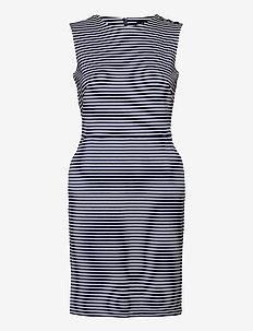 Button-Trim Ponte Dress - robes moulantes - lauren navy/pale