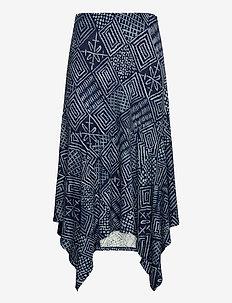 Print Asymmetrical Skirt - midi skjørt - dk blue multi