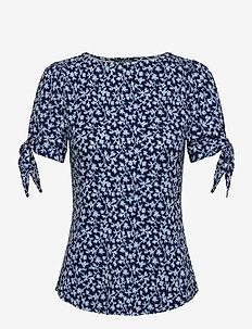RAYON SPANDEX JRSY-SSL-KNT - t-shirts - dk blue multi