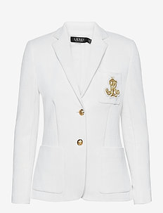 Patch Jacquard Blazer - casual blazers - white