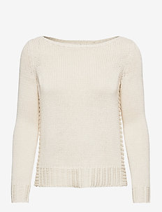 Cotton-Blend Sweater - gensere - mascarpone cream