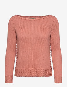 Cotton-Blend Sweater - gensere - mosaic pink