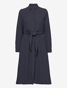TRIPLE GEORGETTE-DRESS - skjortekjoler - lauren navy