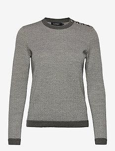 MERINO WOOL-LSL-PLO - tröjor - grey multi