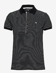 Striped Piqué Polo Shirt - polos - polo black/white