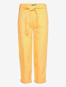 Belted Linen Pant - pantalons droits - beach yellow