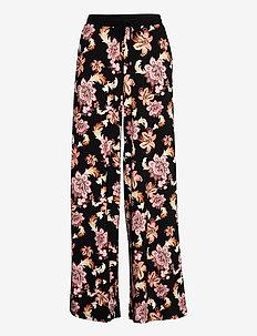 Print Jersey Wide-Leg Pant - hosen mit weitem bein - polo black multi