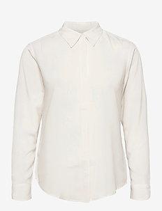 Crepe Shirt - long-sleeved shirts - mascarpone cream