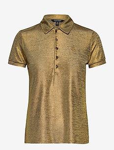 Metallic Jersey Polo Shirt - polohemden - gold metal