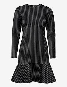 Pinstripe Ponte Dress - cocktailkjoler - polo black/mascar