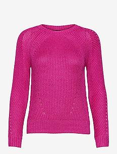 Linen-Blend Crewneck Sweater - trøjer - nouveau bright pi