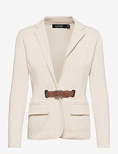 Combed Cotton Blazer - casual blazere - mas cream/ cuoio