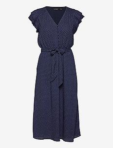 Batik Georgette Dress - zomerjurken - french navy/pale