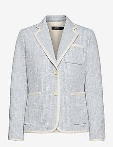 Cotton Dobby Blazer - casual blazere - dust blue
