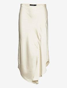 Satin A-line Midi Skirt - jupes midi - mascarpone cream