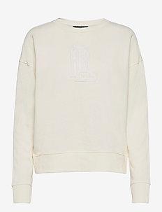 Collegiate French Terry Top - sweatshirts - pale cream