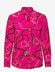 Print Silk Crepe Shirt - chemises à manches longues - nouveau bright pi