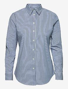 Easy Care Striped Cotton Shirt - langärmlige hemden - blue/white