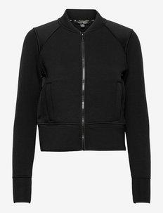 Knit Bomber Jacket - bomber jakker - polo black