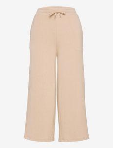 Cropped Wide-Leg Sweatpant - laia säärega püksid - dune tan