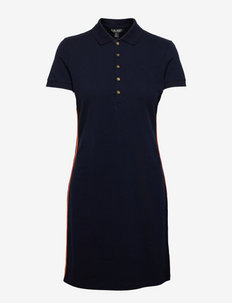 Piqué Polo Dress - tshirt jurken - lauren navy