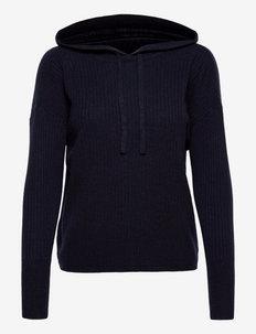 Washable Cashmere Hooded Sweater - hættetrøjer - lauren navy