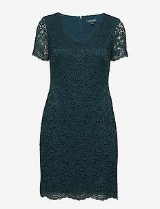 Scalloped Lace Dress - SPRUCE