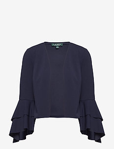 Bell-Sleeve Jersey Cardigan - LIGHTHOUSE NAVY