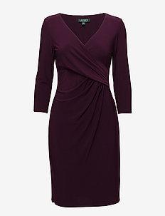 Surplice Jersey Dress - PASSION PLUM
